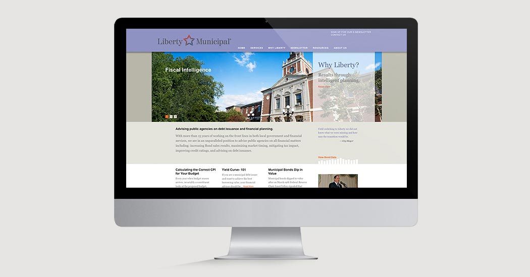Liberty Municipal Website home page