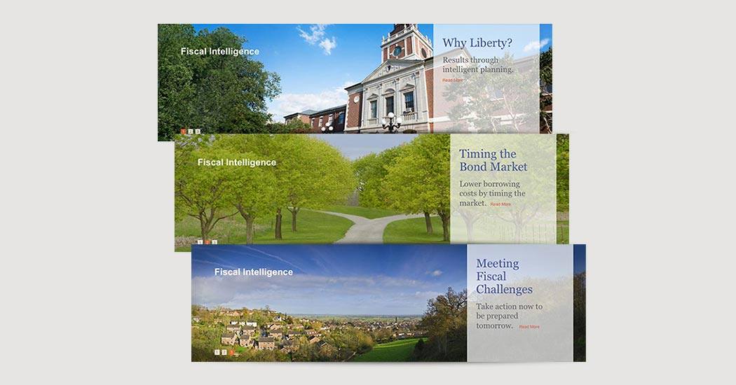 Liberty Municipal Website slides