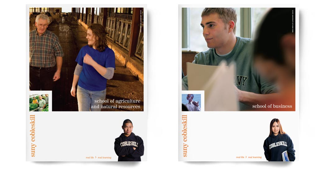 Cobleskill Agriculture and Business brochure covers