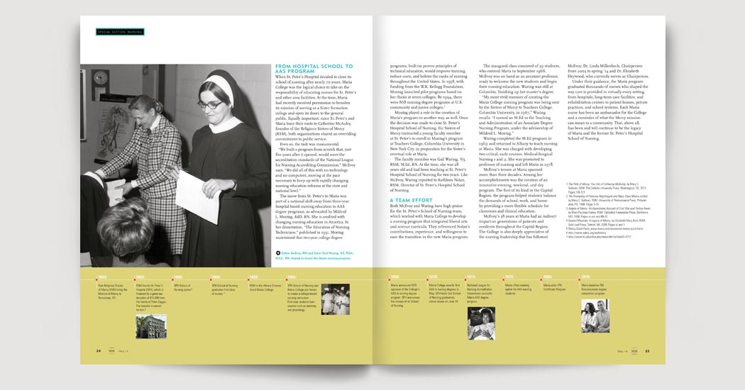 History of Nursing at Maria