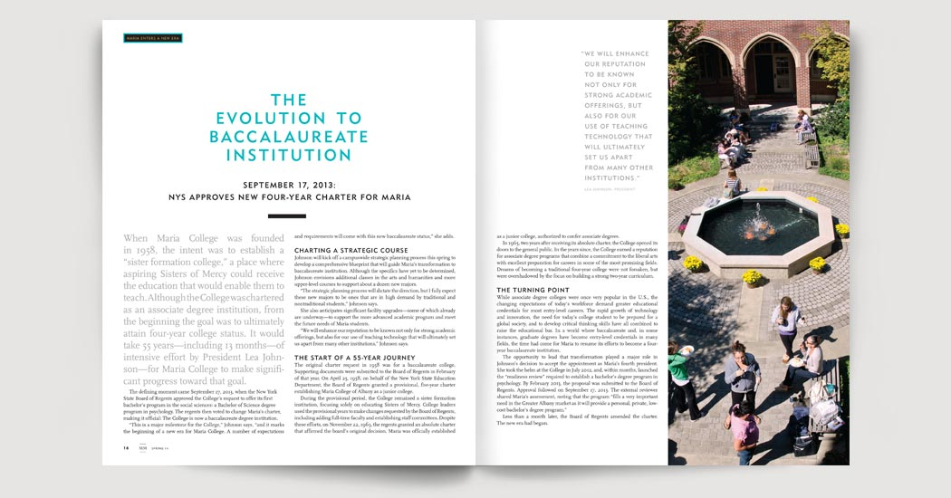 The evolution to baccalaureate institution