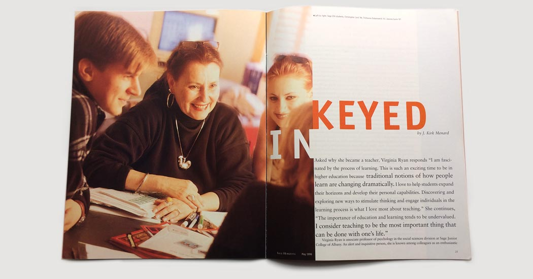 Sage Magazine Keyed In feature