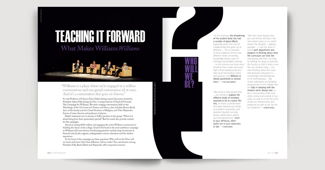 Teach It Forward feature