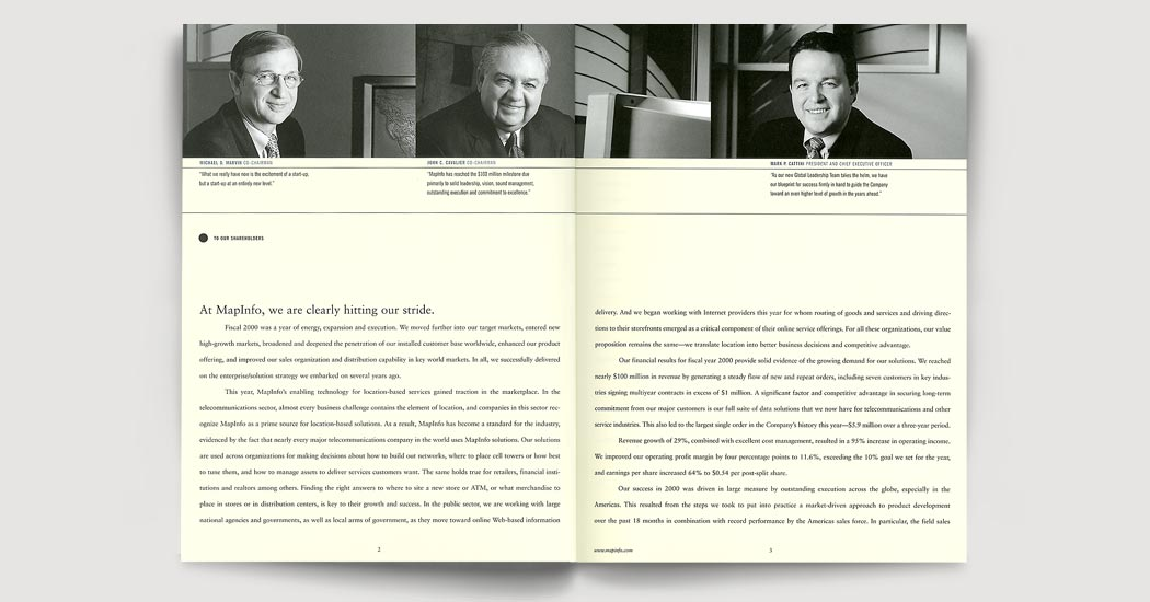Annual Report 2000 spread 4