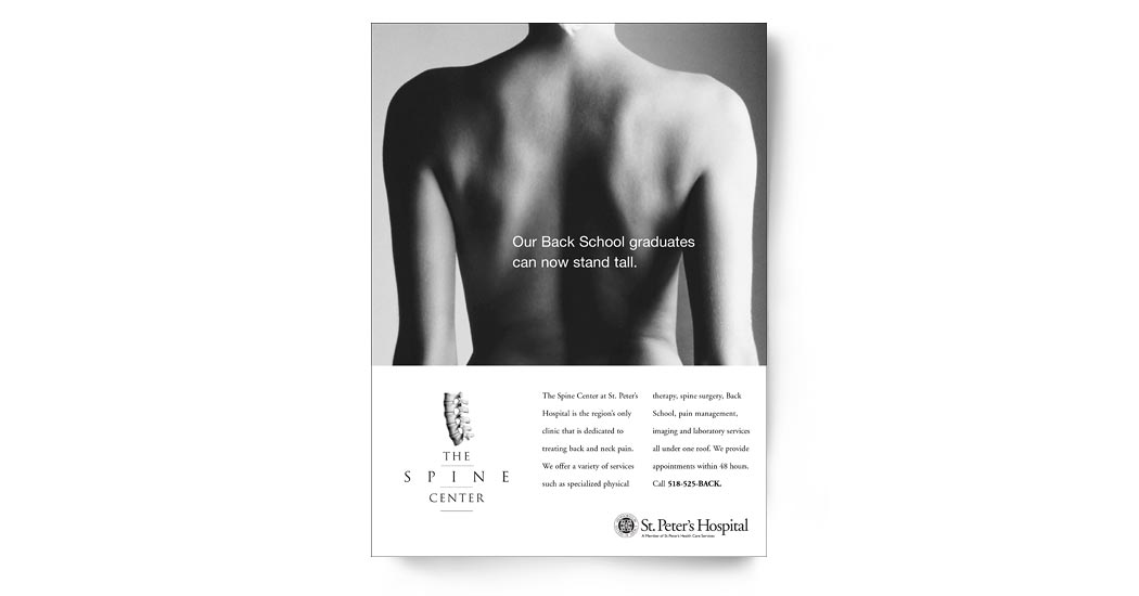 The Spine Center Ad Campaign 2 - Back