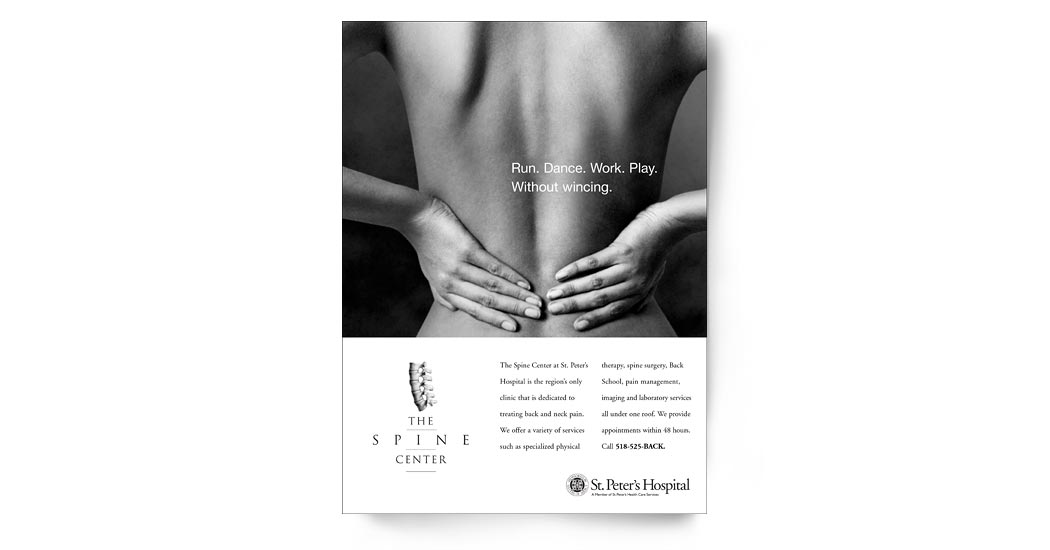 The Spine Center Ad Campaign 2 - Back Pain