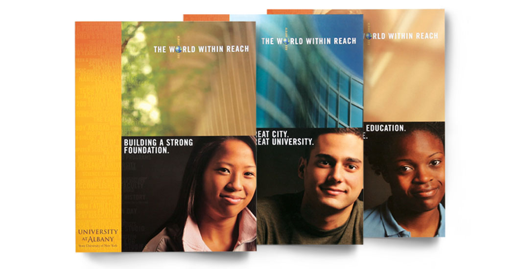 University at Albany Brochure covers